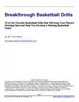 72 Breakthrough Basketball Drills