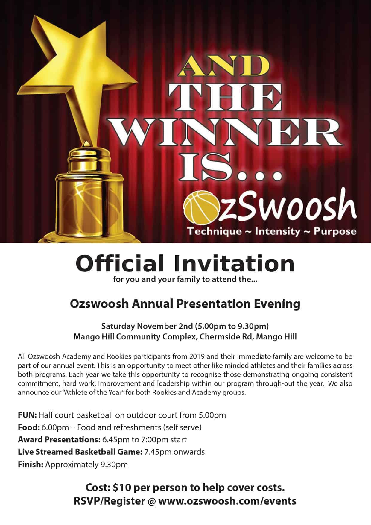 Ozswoosh Awards Night