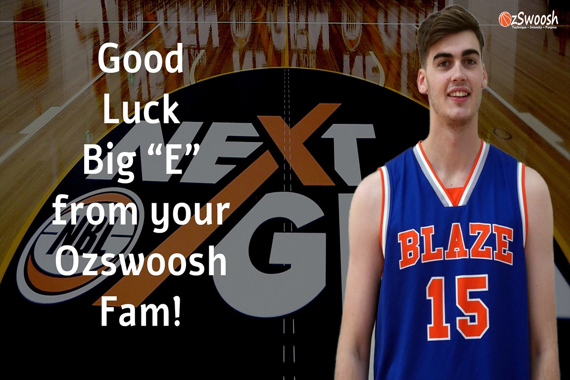 Big E Trials at NBL NextGen in Victoria. Ethan Scofield is a 6'10 Forward within the OzSwoosh Academy Development Program Brisbane Australia