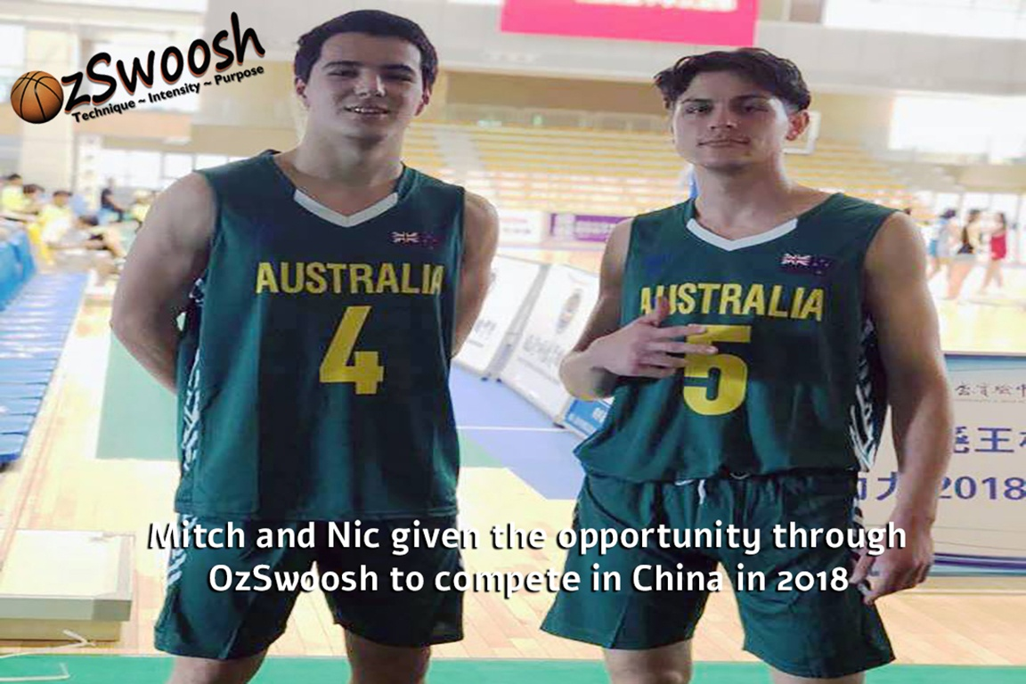 OzSwoosh presents opportunities for two athletes to particpated in an all expenses paid trip to compete in a tournament in China in 2018.