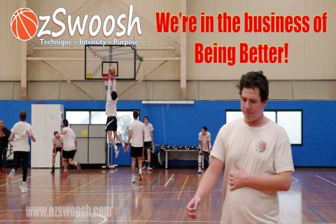 OzSwoosh Academy teach their athletes to always be professional and start where you want to finish, as a professional. OzSwoosh means business.