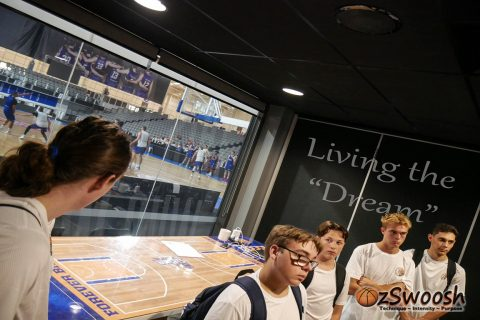 OzSwoosh Living the Dream at the Brisbane Bullets Inner Sanctum Tour 2020. Athletes were given a taste of what it means to be a pro basketball player.