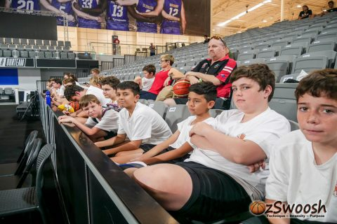 OzSwoosh Rookies wait their turn for the Brisbane Bullets tour