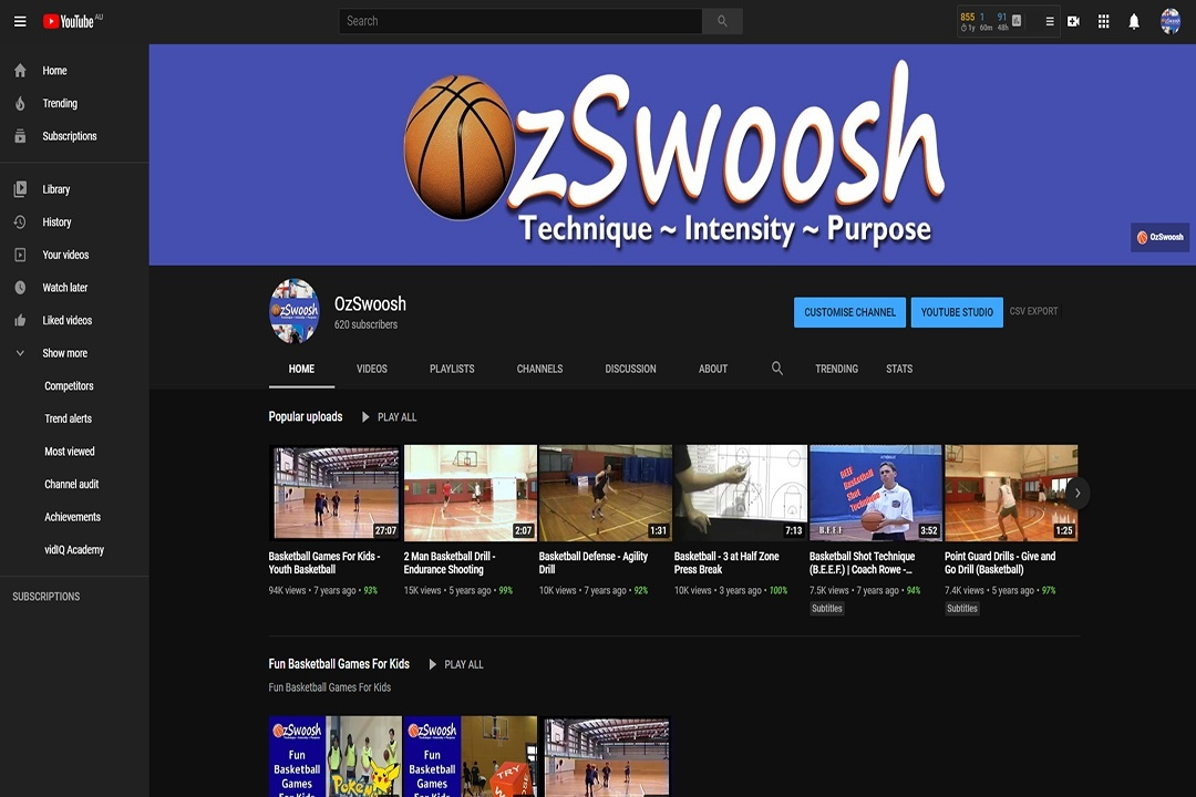 OzSwoosh YouTube Channel Revamp