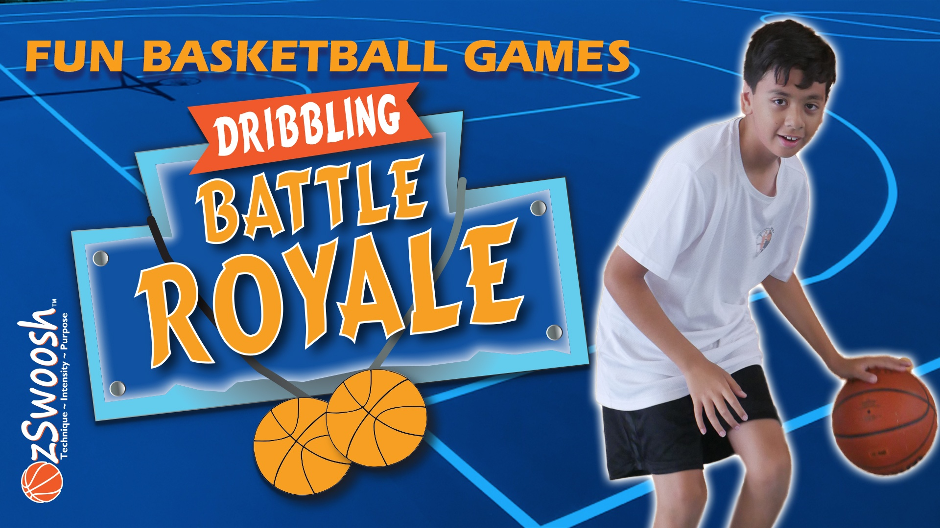 Fun Youth Basketball Drills For Kids - Battle Royale (Dribbling Game)