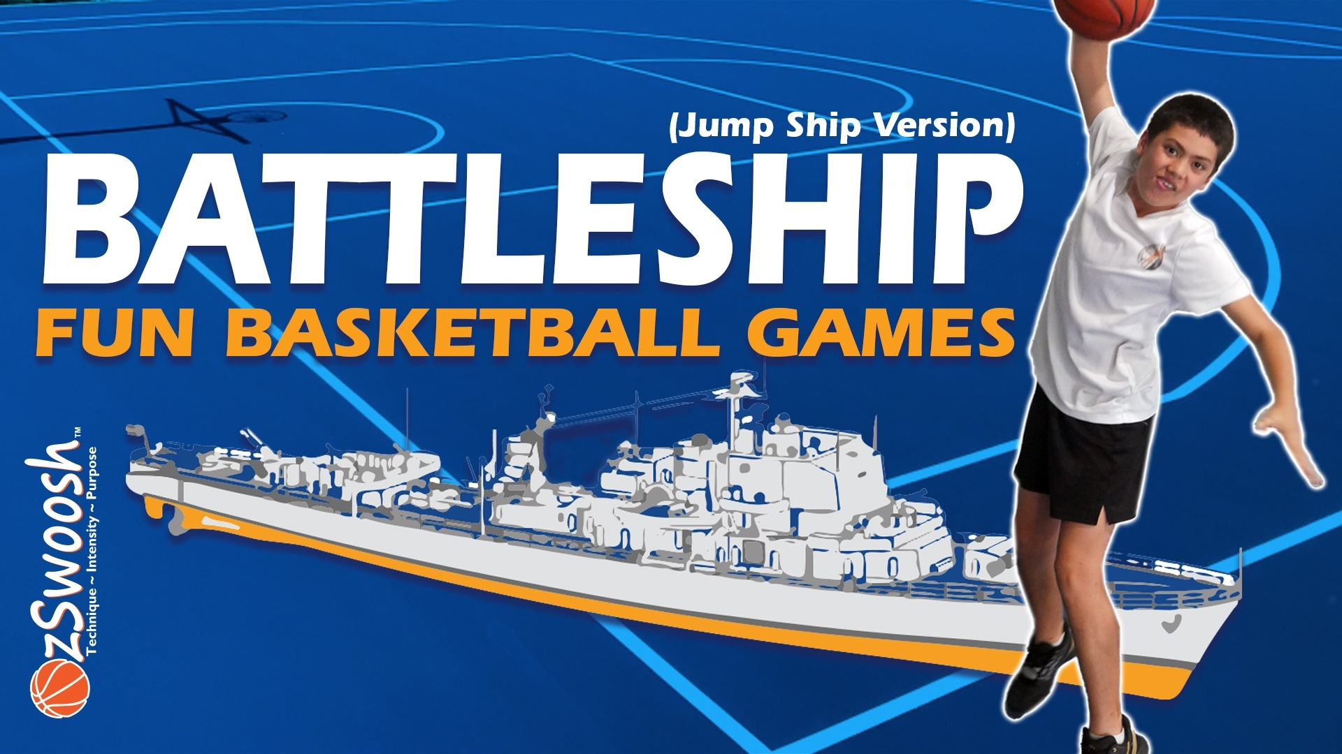 Fun Youth Basketball Drills For Kids - Battleship Jump Ship (Shooting Game)