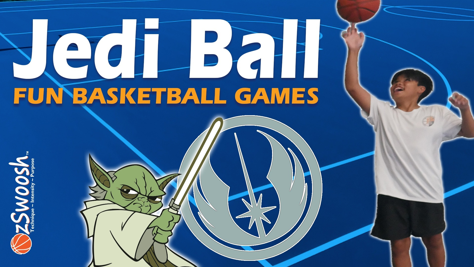 Fun Youth Basketball Drills For Kids - Jedi Ball (Passing game)