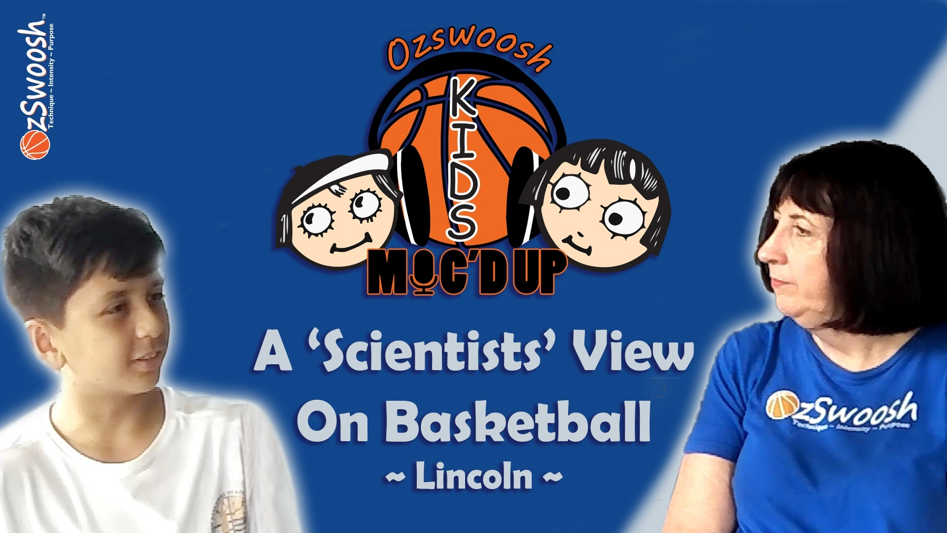 The science of basketball OzSwoosh Kids Micd up