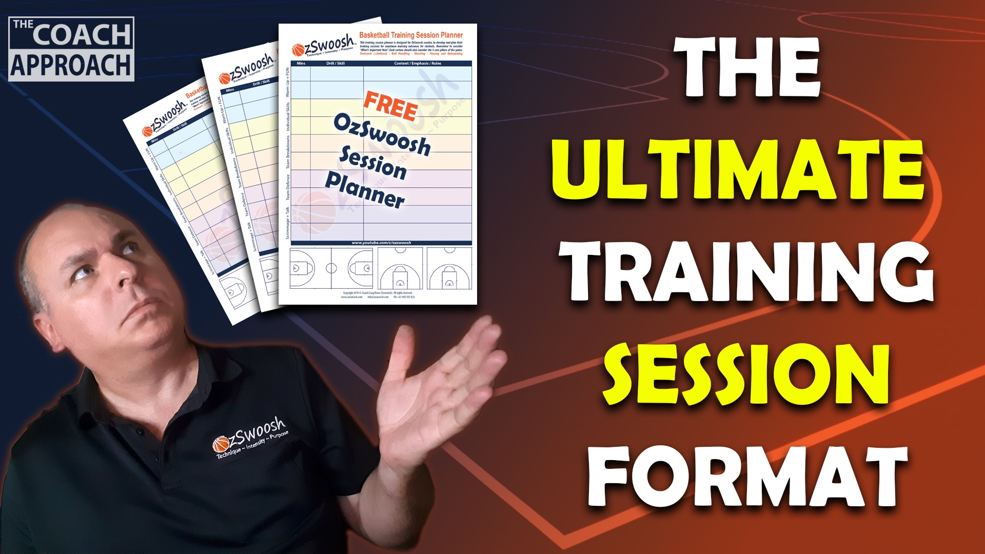 FREE Basketball training session workout planner