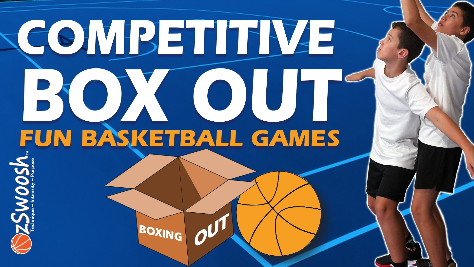 Fun Youth Basketball Rebounding Drill - Competitive Box Out