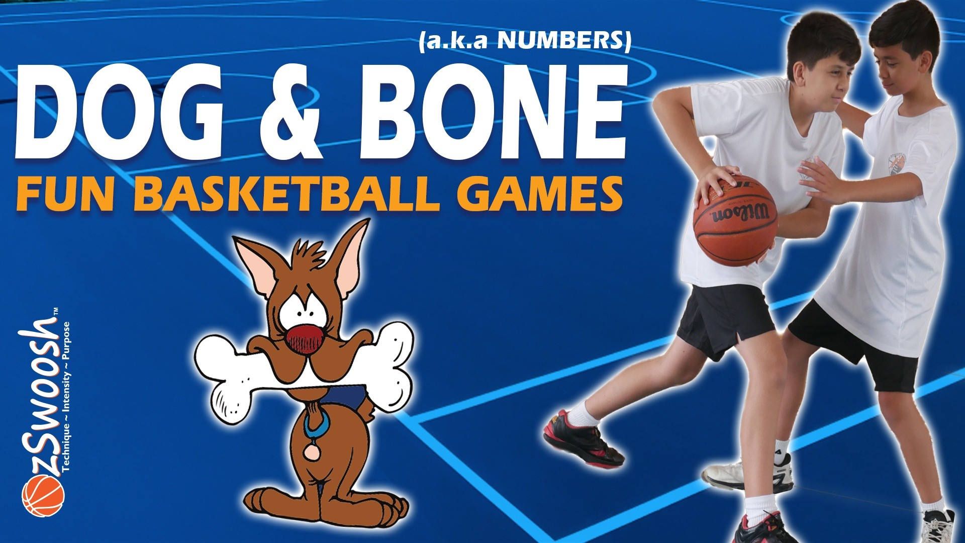 Fun Youth Basketball Drills For Kids - Dog and Bone (1 on 1 Game)