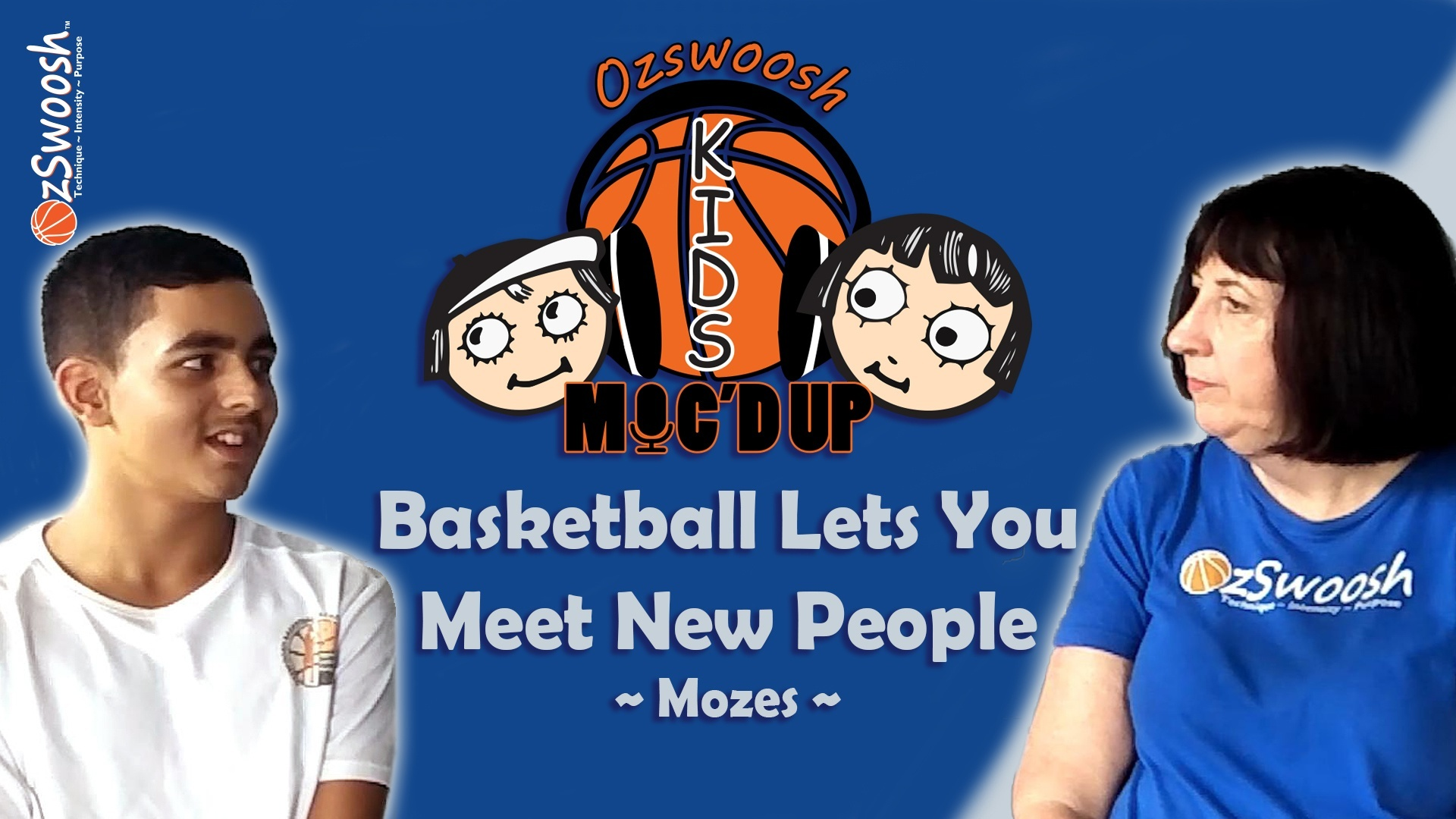 Meet new people with basketball kids interview