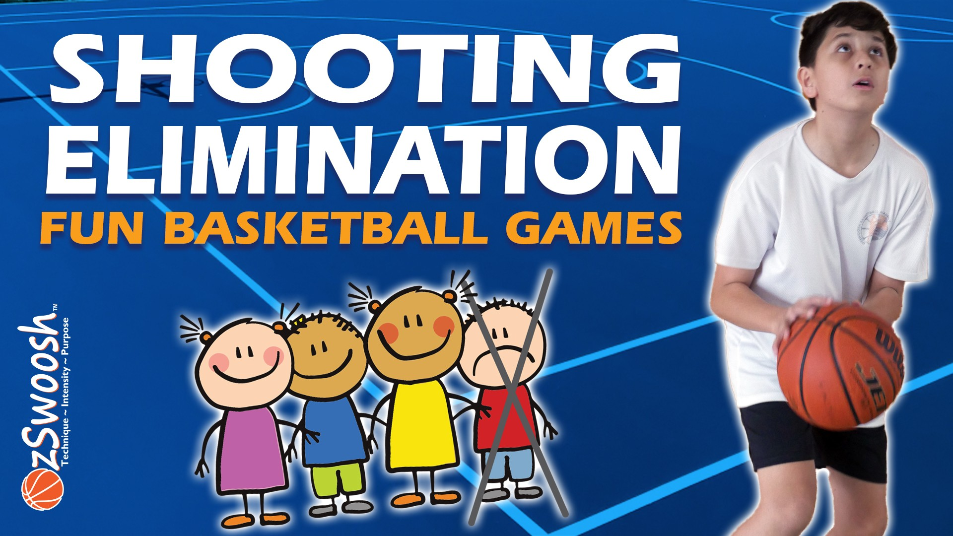 Fun Youth Basketball Drills For Kids - Elimination Shooting Game