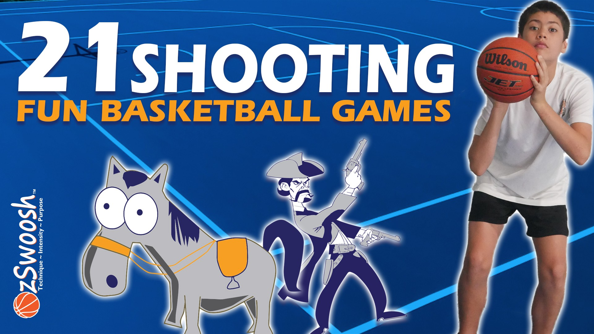 Fun Youth Basketball Games For Kids - 21 (Shooting Drill)