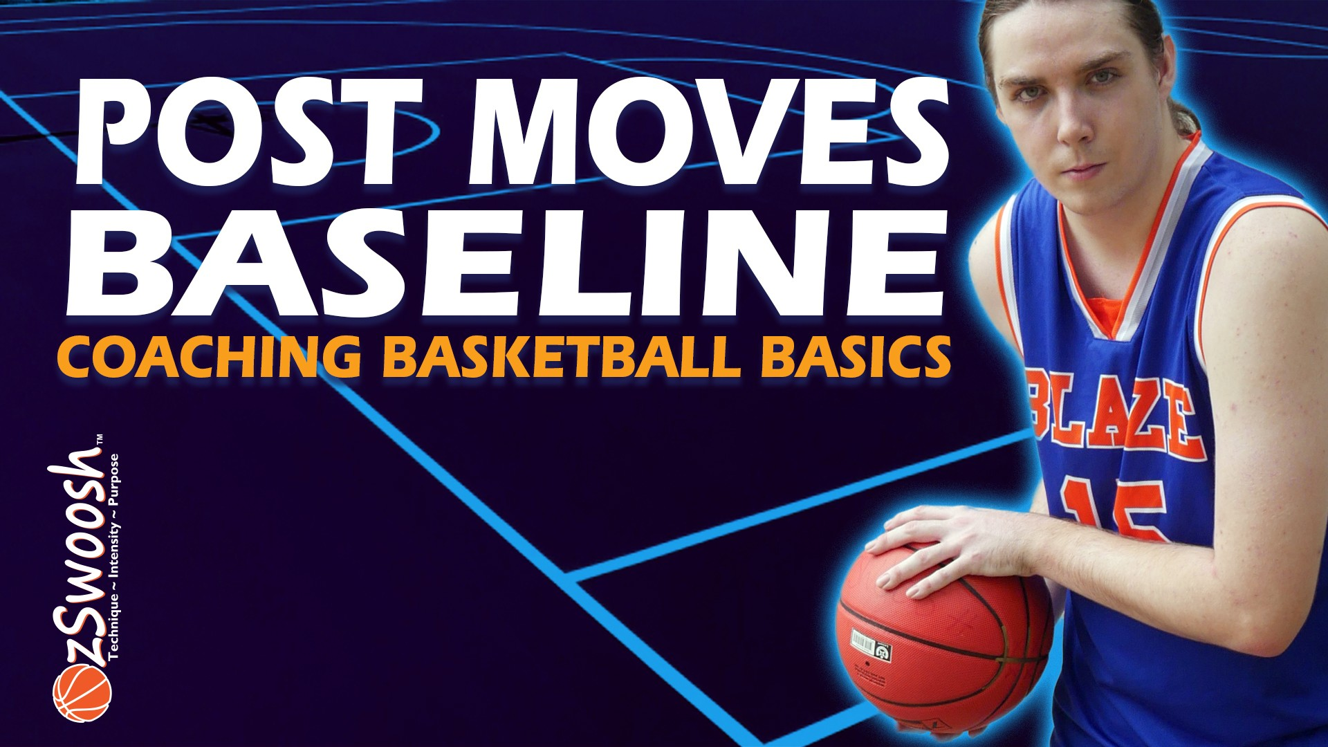 post up back to the basket in basketball - baseline moves