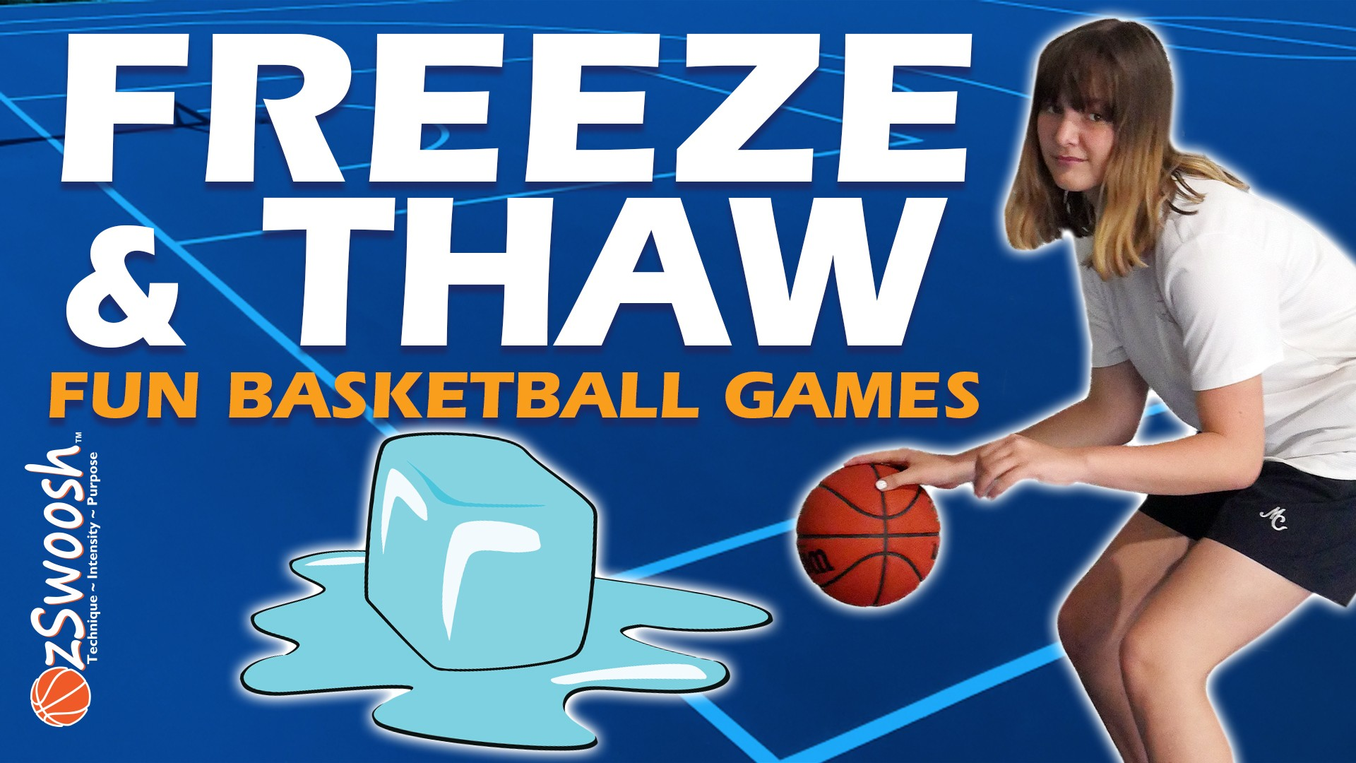 basketball drills for kids - Freeze and Thaw Fun Basketball Dribbling Game