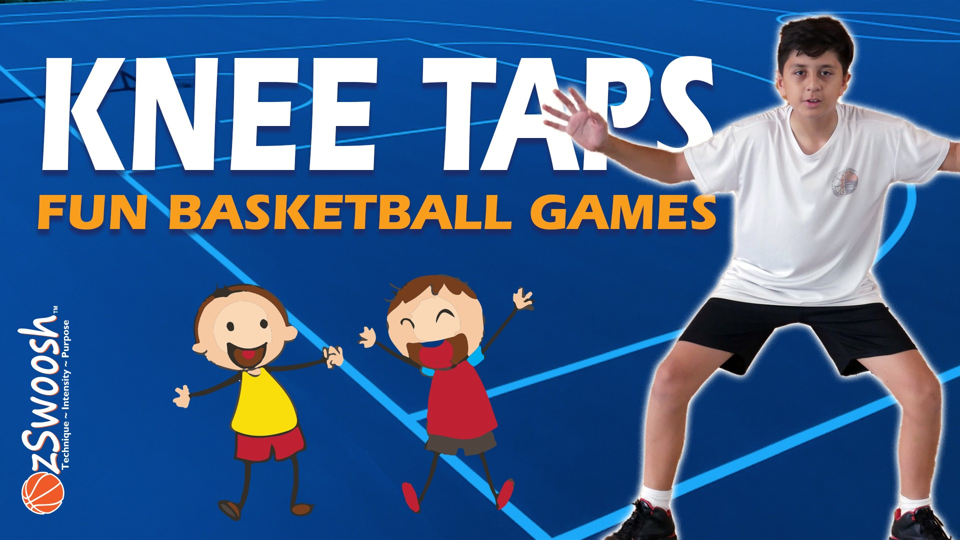 fun defensive basketball drill for kids - knee taps