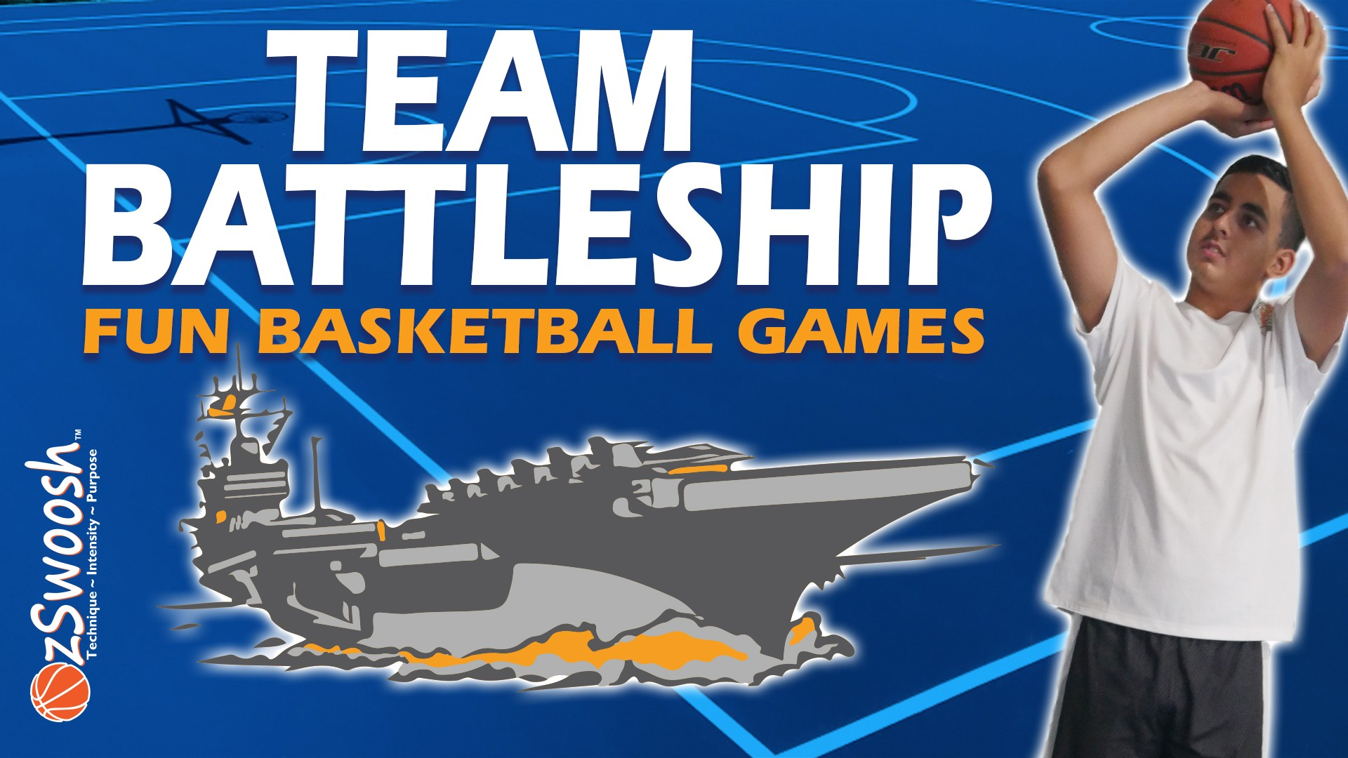 Basketball Games For Kids - Team Battleship Shooting Drill