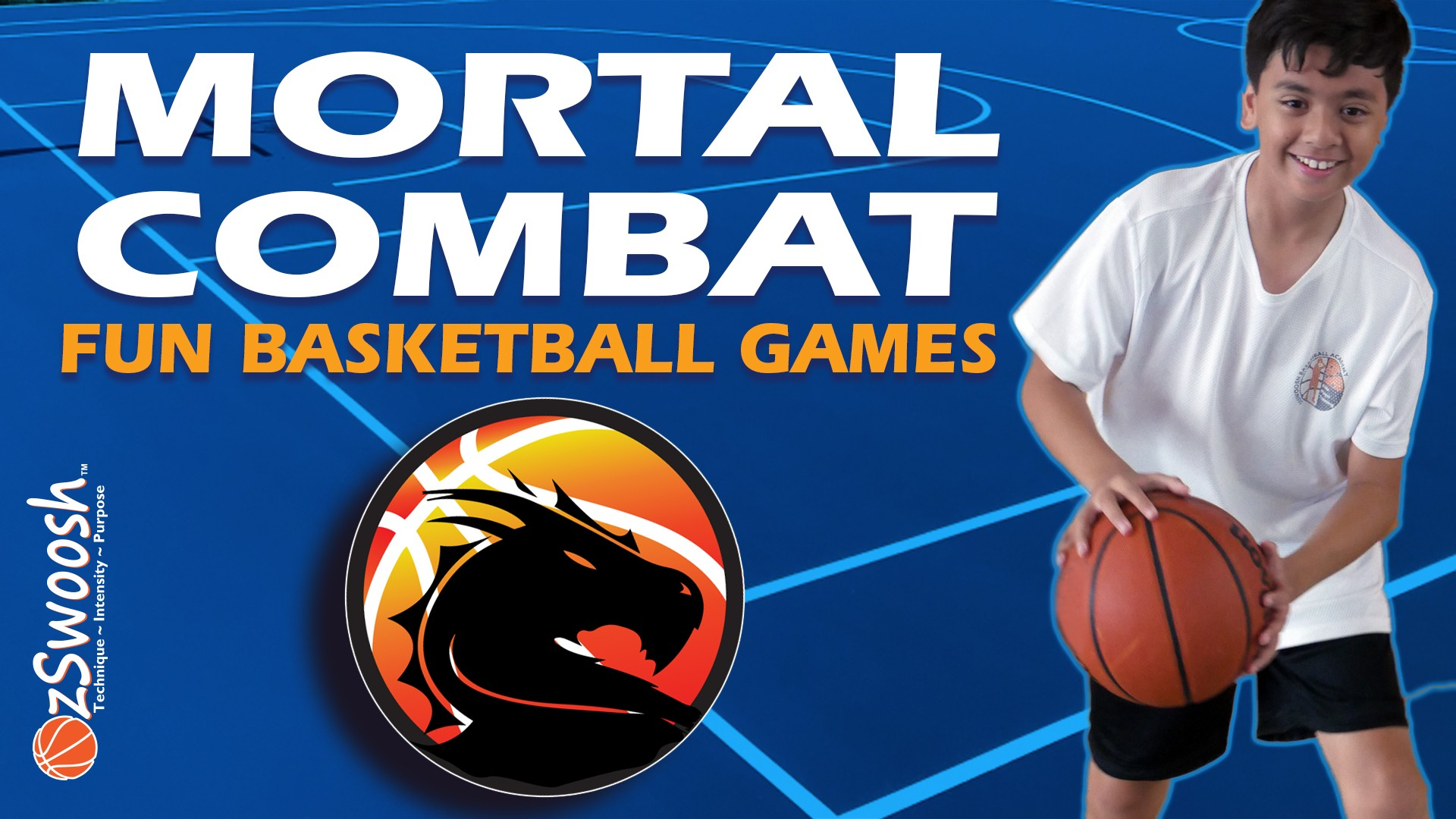 Fun Youth Basketball Drills For Kids - Mortal Combat (Dribbling Game)