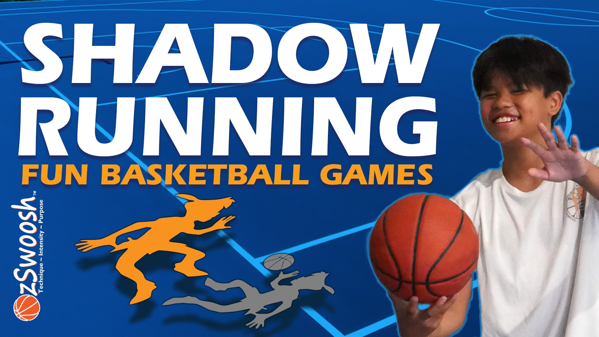 Fun Youth BASKETBALL Drills for Kids - Shadow Running (Basketball Warm Up Game)