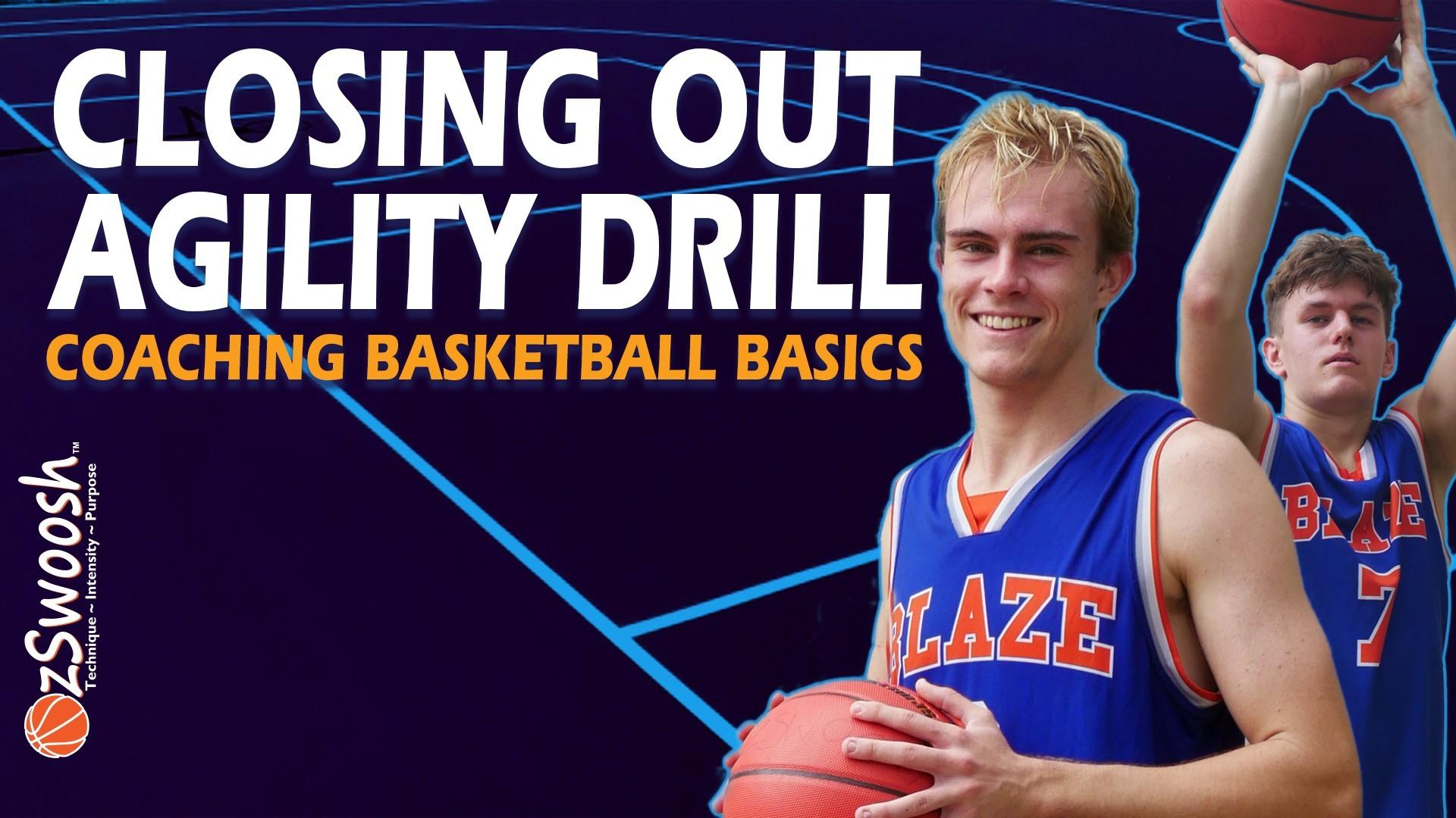 Basketball Close Out Agility Drill - Coaching Basketball Fundamentals