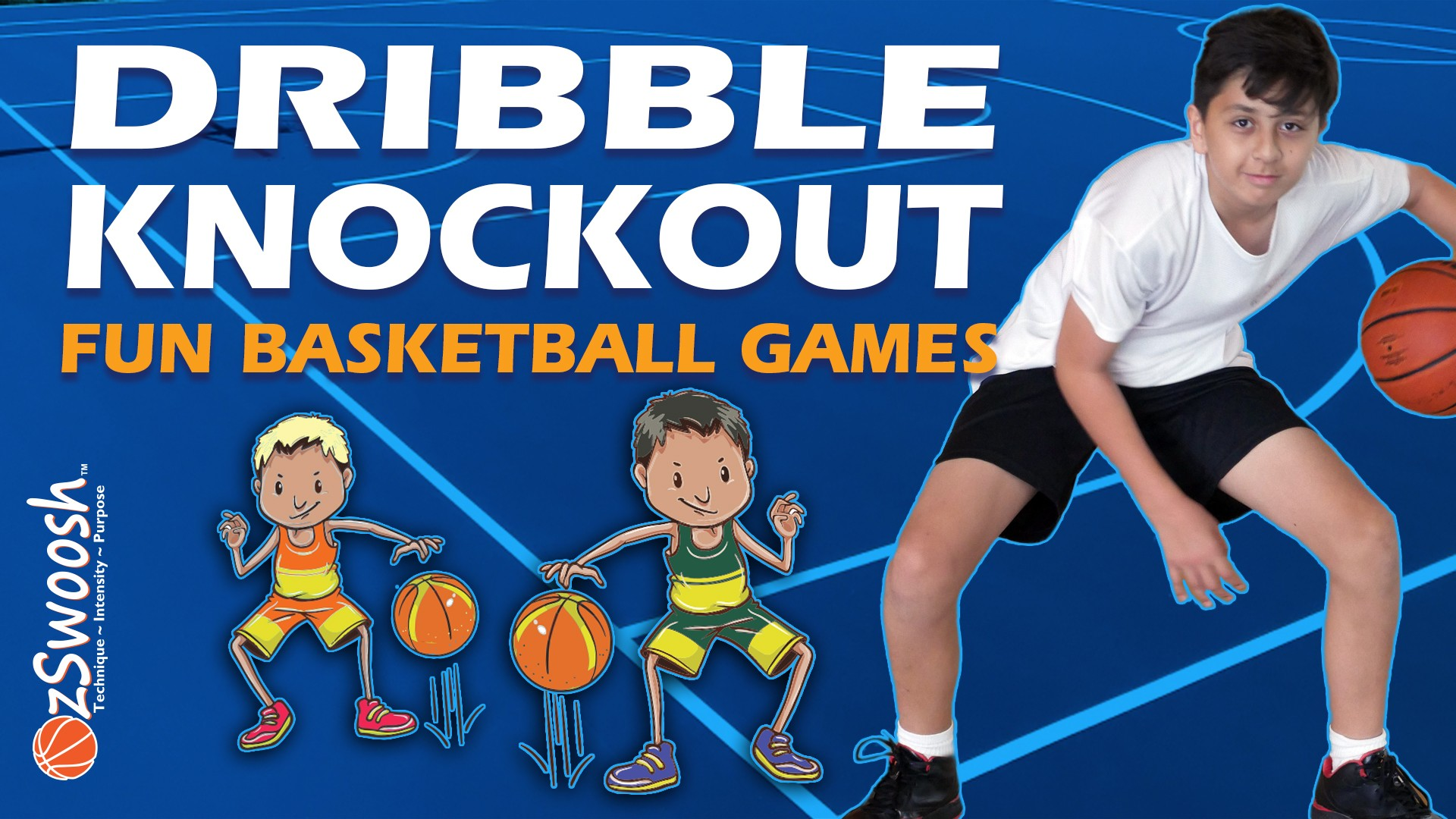 Fun Basketball Drill for Kids - Dribble Knockout (Dribbling Game)
