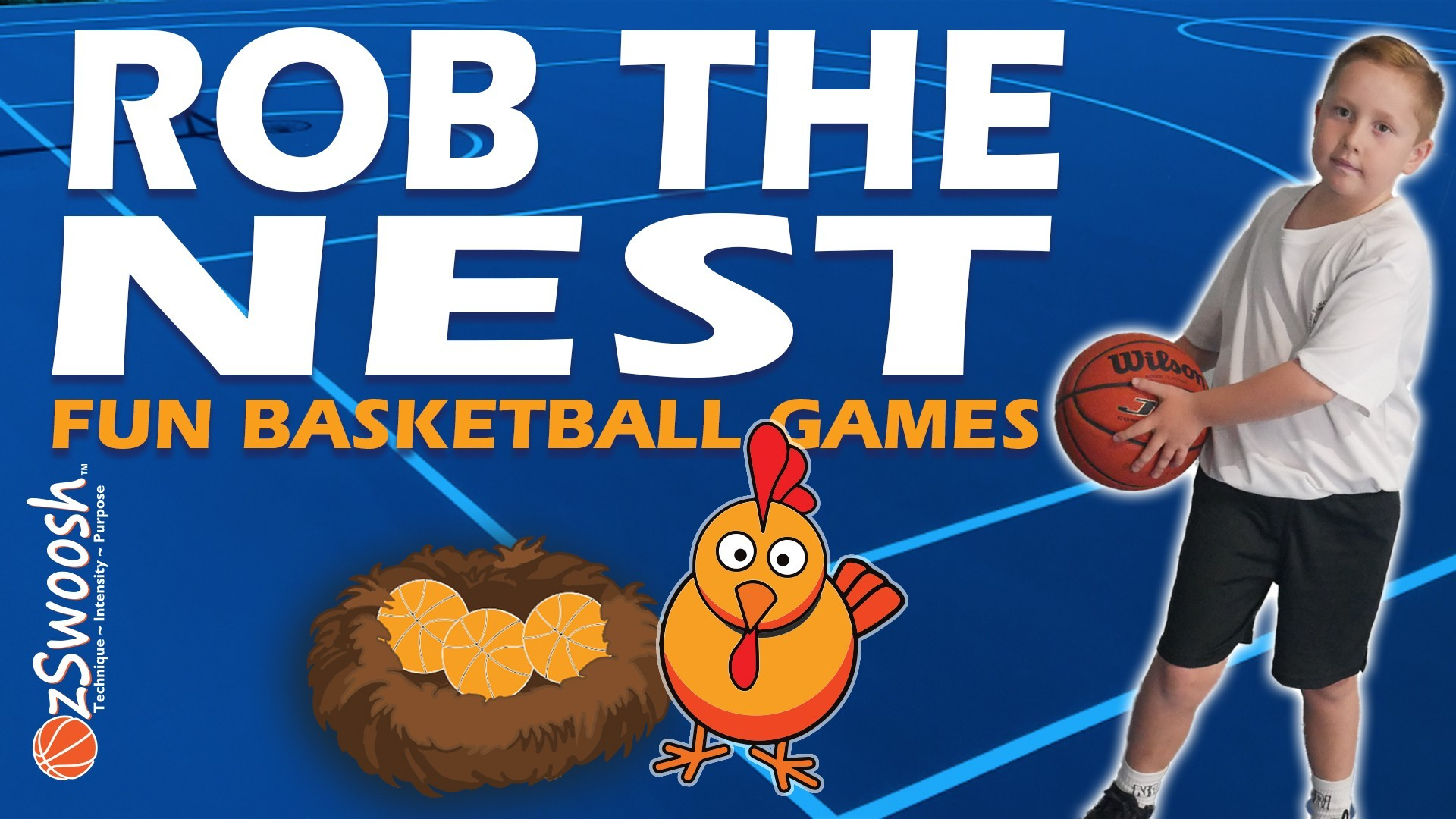 Fun Youth Basketball Drills For Kids - Rob The Nest (Dribbling Game)