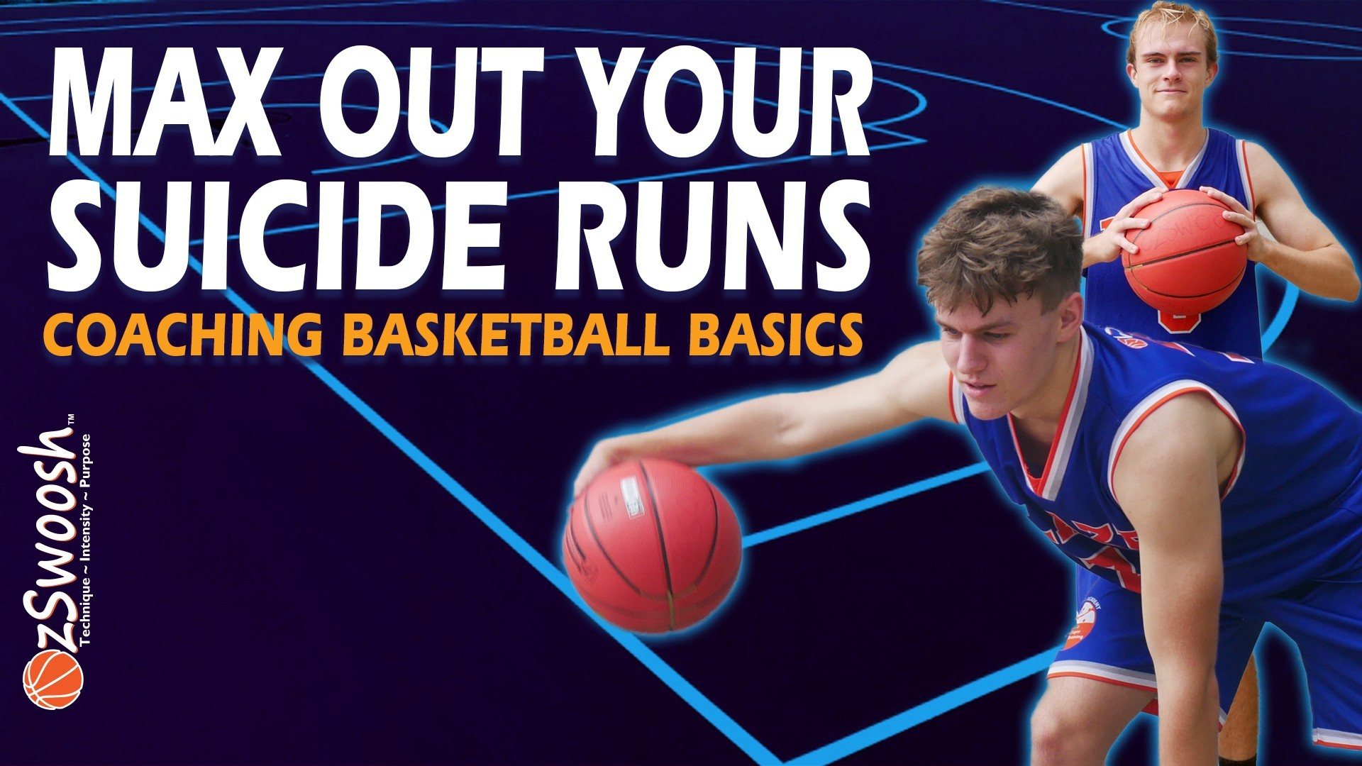 Basketball Agility Drill - ' Suicide Dribbling' - Coaching Basketball Fundamentals