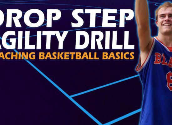 Basketball Close Out Drop Step Agility Drill - Coaching Basketball Fundamentals