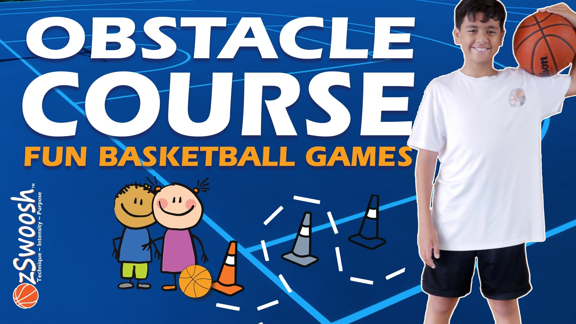Fun Youth Basketball Drills for Kids - Obstacle Course (Dribbling)