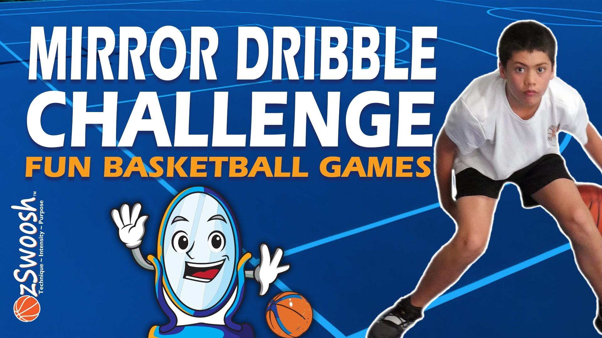 Fun Youth Basketball Games For Kids - Mirror Dribbling (Ball Handling Game)
