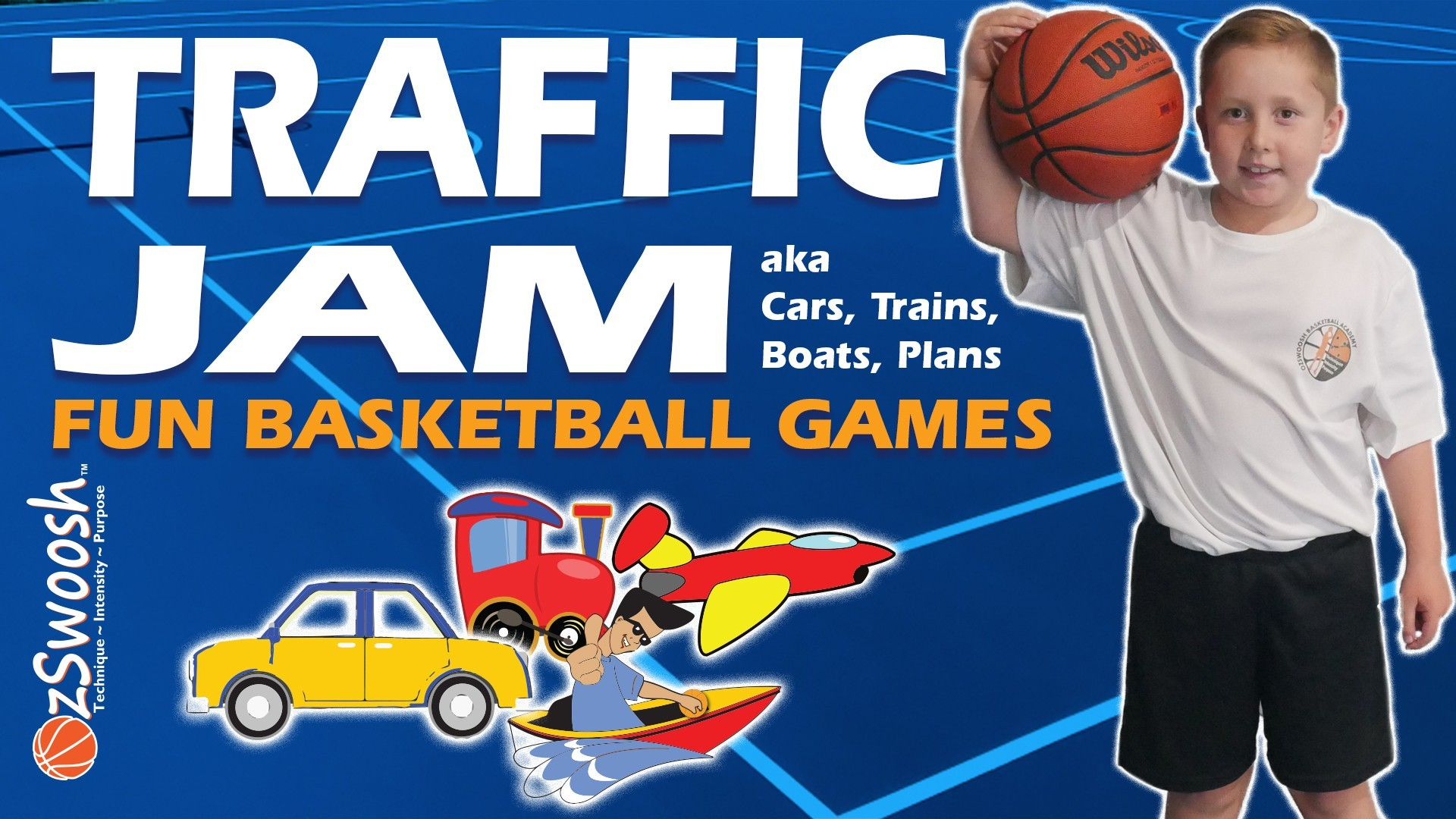 Fun Youth Basketball Drills For Kids - Traffic Jam (Warmup Game)