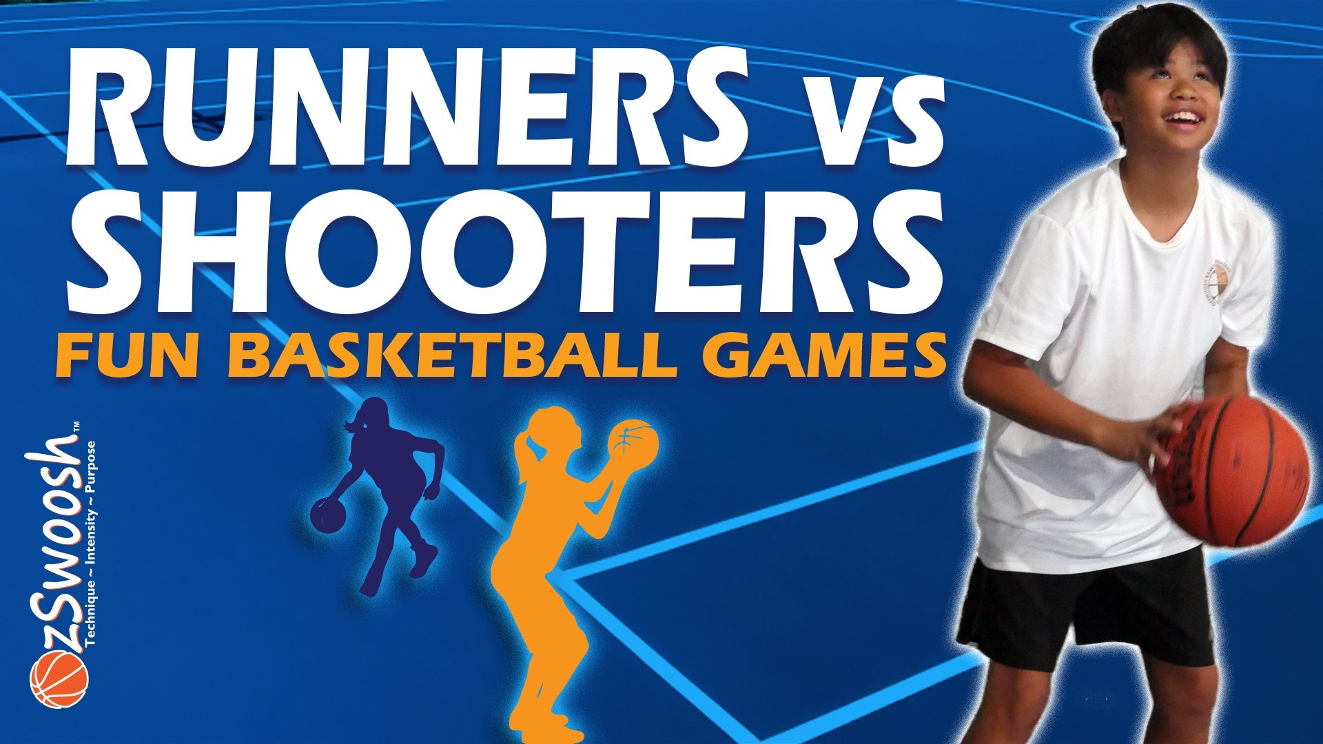Fun Youth Basketball Drills For Kids - Runners vs Shooters (Competitive Game)