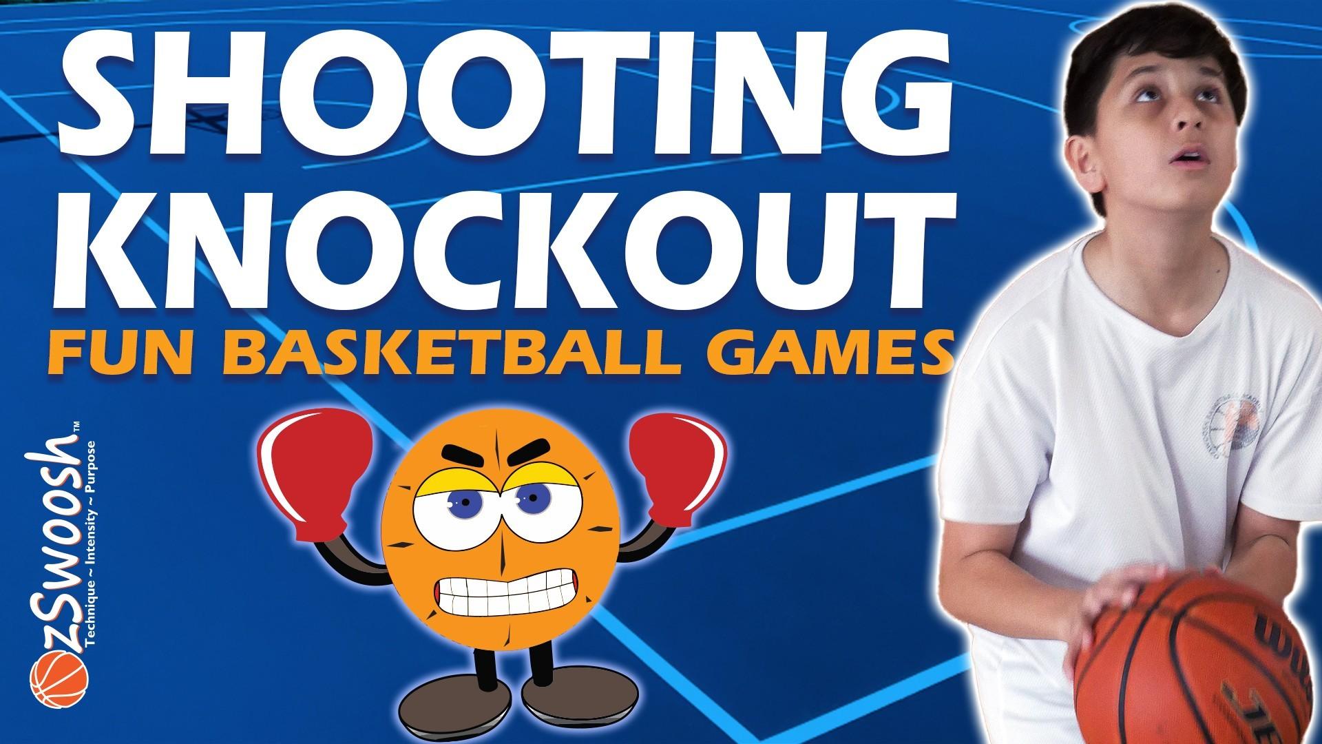 Fun Youth Basketball Drills For Kids - Shooting Knockout (Shooting Game)